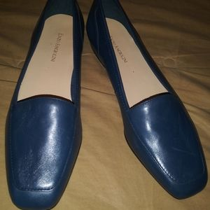 Enzo Angiolini Navy leather Loafers 8.5N